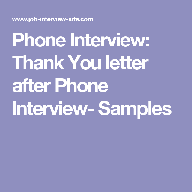 telephone interview thank you