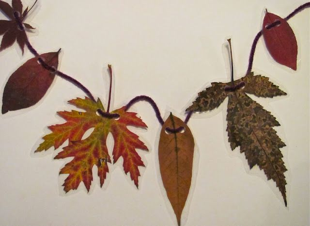 The Chocolate Muffin Tree: Contact Paper Fall Leaf Garland