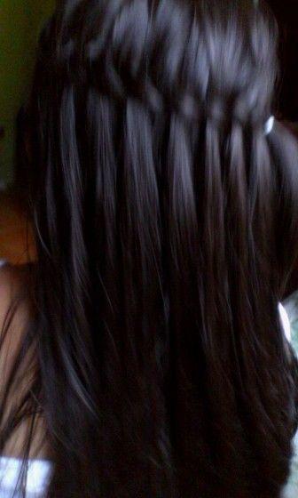 Así luce el cabello de mi niña con este peinado ☺