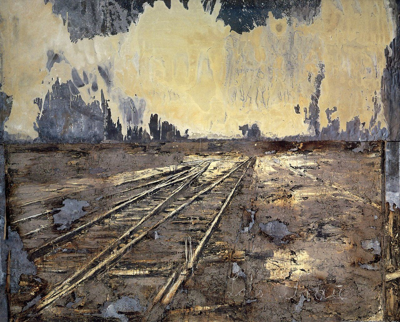 Anselm Kiefer Lot Frau 1990 Acrylic Emulsion And Ash