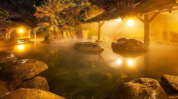 黒川温泉の老舗温泉旅館 広く大きな露天風呂 仙人風呂 や5種類の家族風呂などお楽しみいただけます 黒川温泉は入湯手形での露天めぐりも有名です お子様との 宿泊も安心 ウェルカムベビーのお宿 九州温泉宿初の認定も受けています そしてペット用のスペース