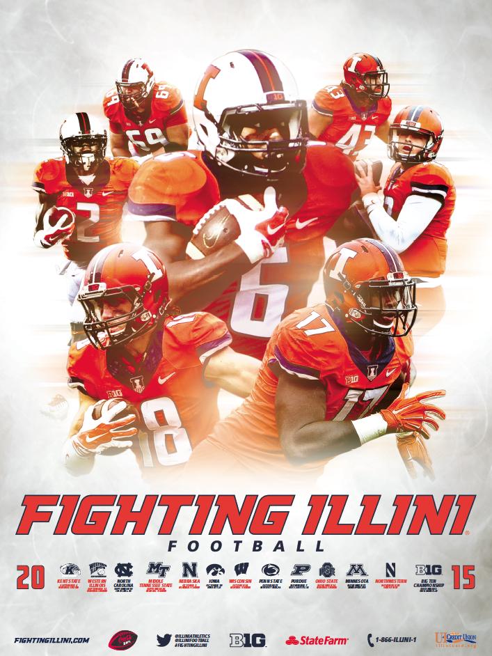 Illinois Football Poster (2015) Sport poster design