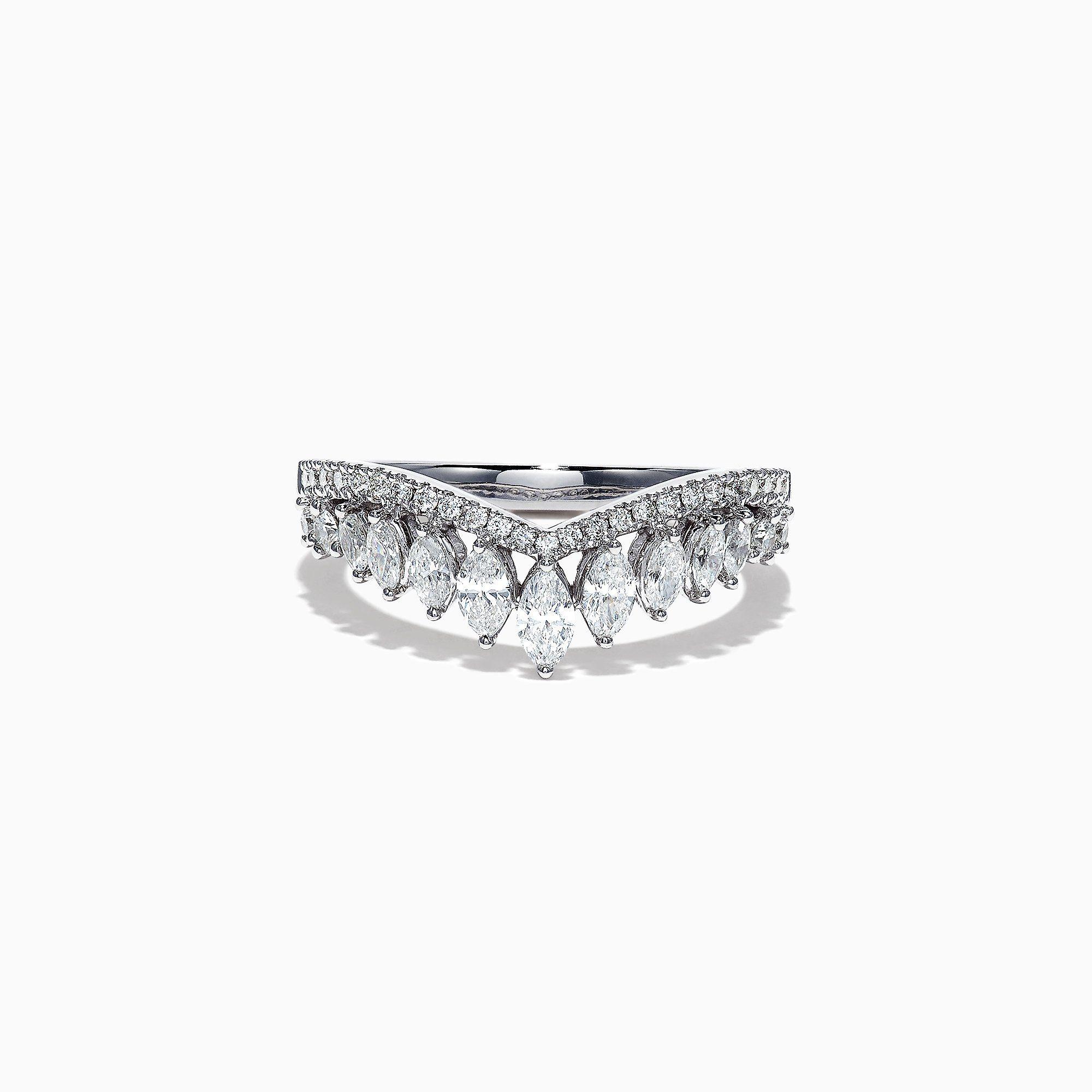 Effy Classique 14k White Gold Diamond Crown Ring 0 77 Tcw Diamond Crown Ring Diamond Crown White Gold Diamonds