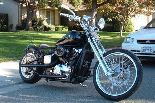 2002 Heavily Modified Bobber With A Hardtail Frame Honda Shadow Spirit 750  By Nmoreno | Flickr   Photo Sharing!