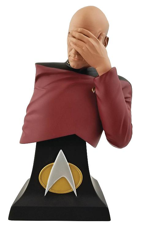Star Trek Tng Picard Facepalm Limited Edition Bust Sdcc 2020 Exclusive Star Trek Captain Picard Bust