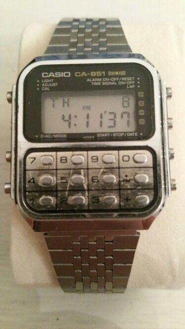 3eef2890f Vintage Casio CA-951 calculator game watch 1980s | Watch. in 2019 ...