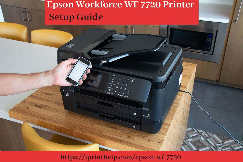 Epson Workforce Wf 7720 Printer Setup Guide Epson Installation Printer