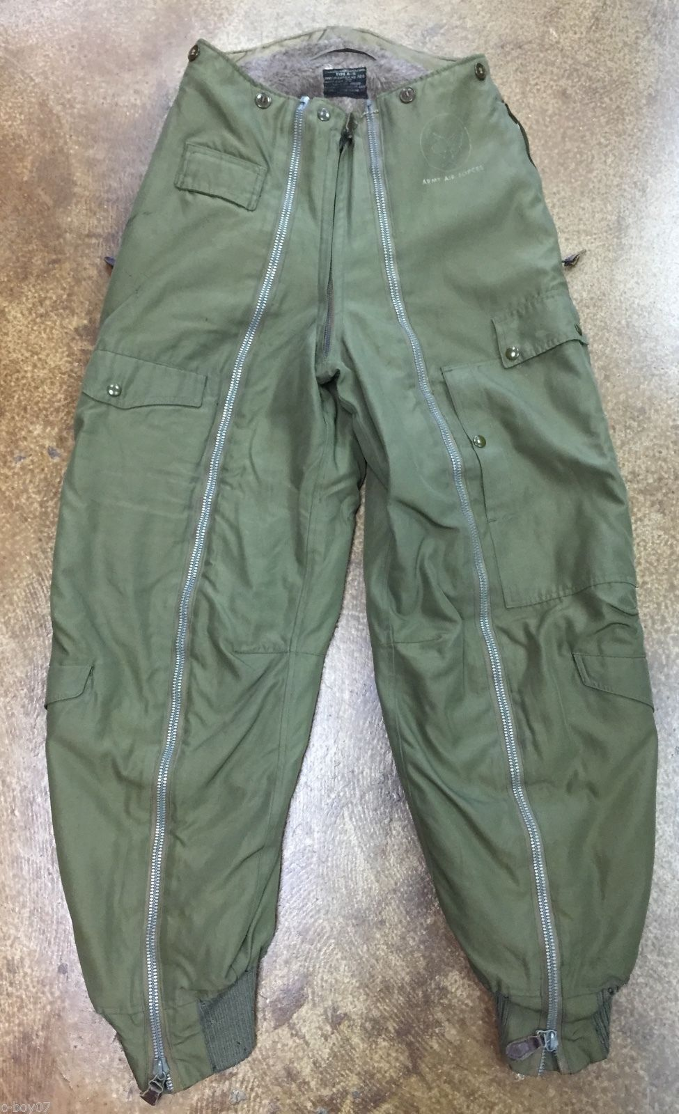 US Army Air Forces WWII A 11 Flight Trousers Waist Size 30