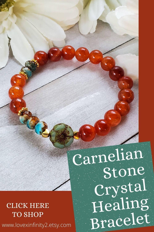 Confidence and Success! Carnelian Bracelet