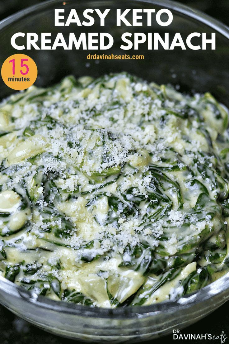 Easy Keto Creamed Spinach Recipe [+VIDEO] | Dr. Davinah's Eats