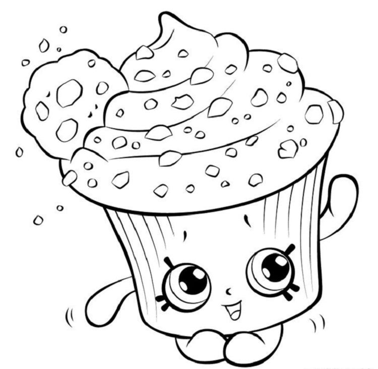 Shopkins Coloring Pages Cupcake   Coloring Pages ideas in 2018 ...