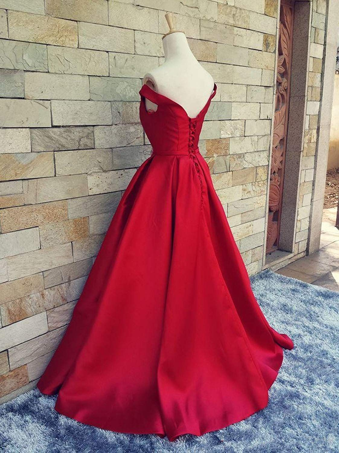 Selenova womenus off the shoulder aline evening ball gowns with bow