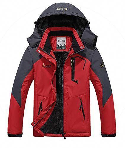 Men/'s Waterproof Jacket Windproof Hooded Outdoor Sportswear Zipper Casual Coat