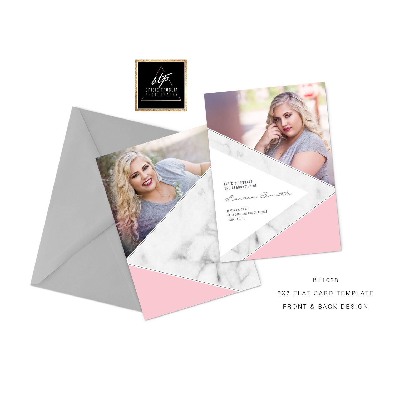 Grad card template bt1028 5x7 photography