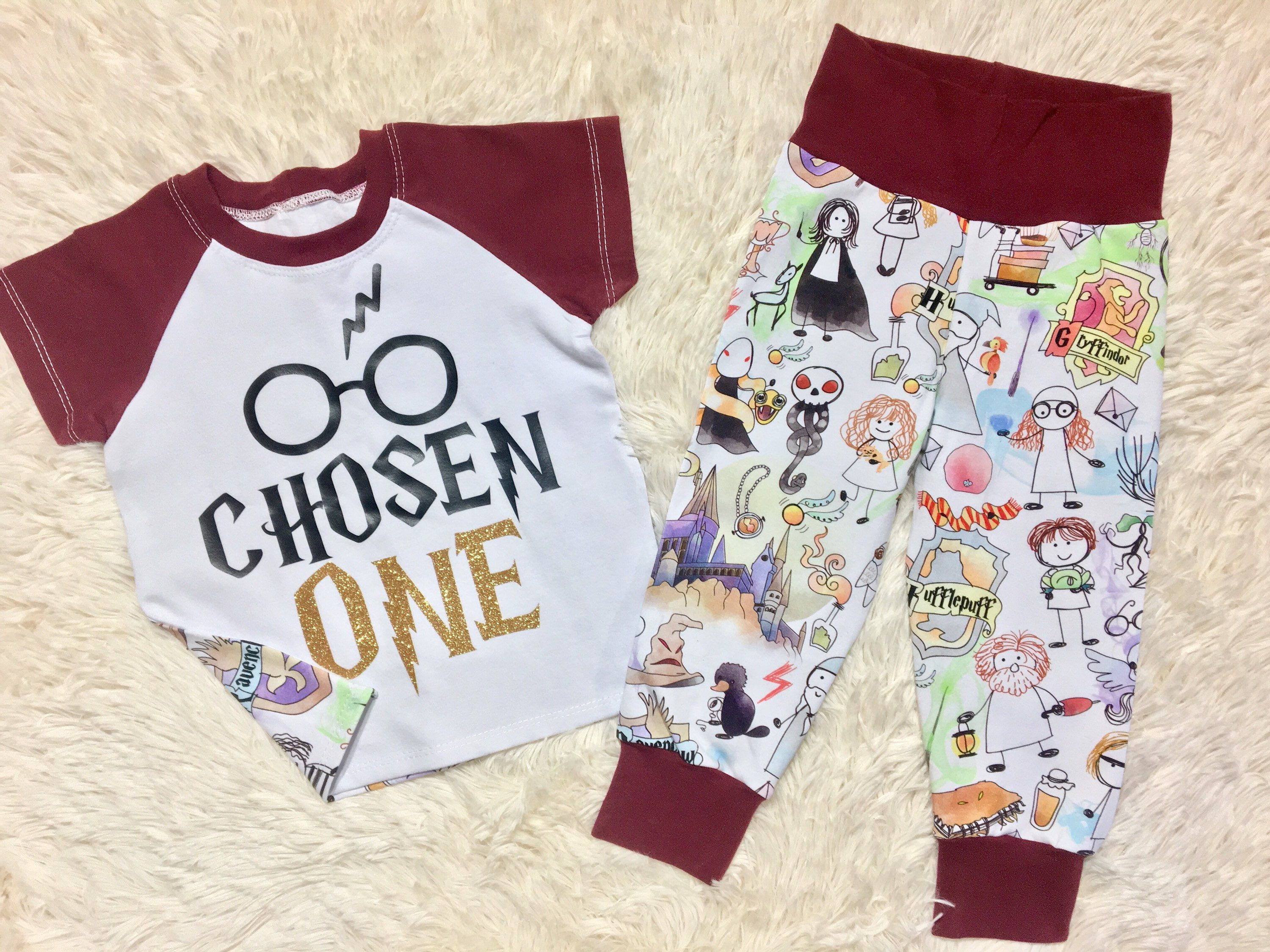 Unisex Harry Potter themed first birthday set, one year