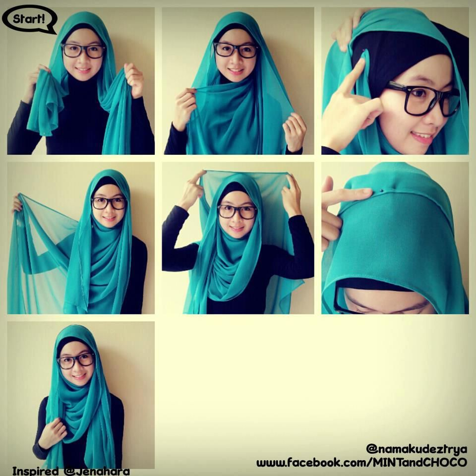 Tutorial Hijab Pashmina Shifon Hijab Tutorial Pinterest Sky