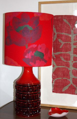retro red lamp