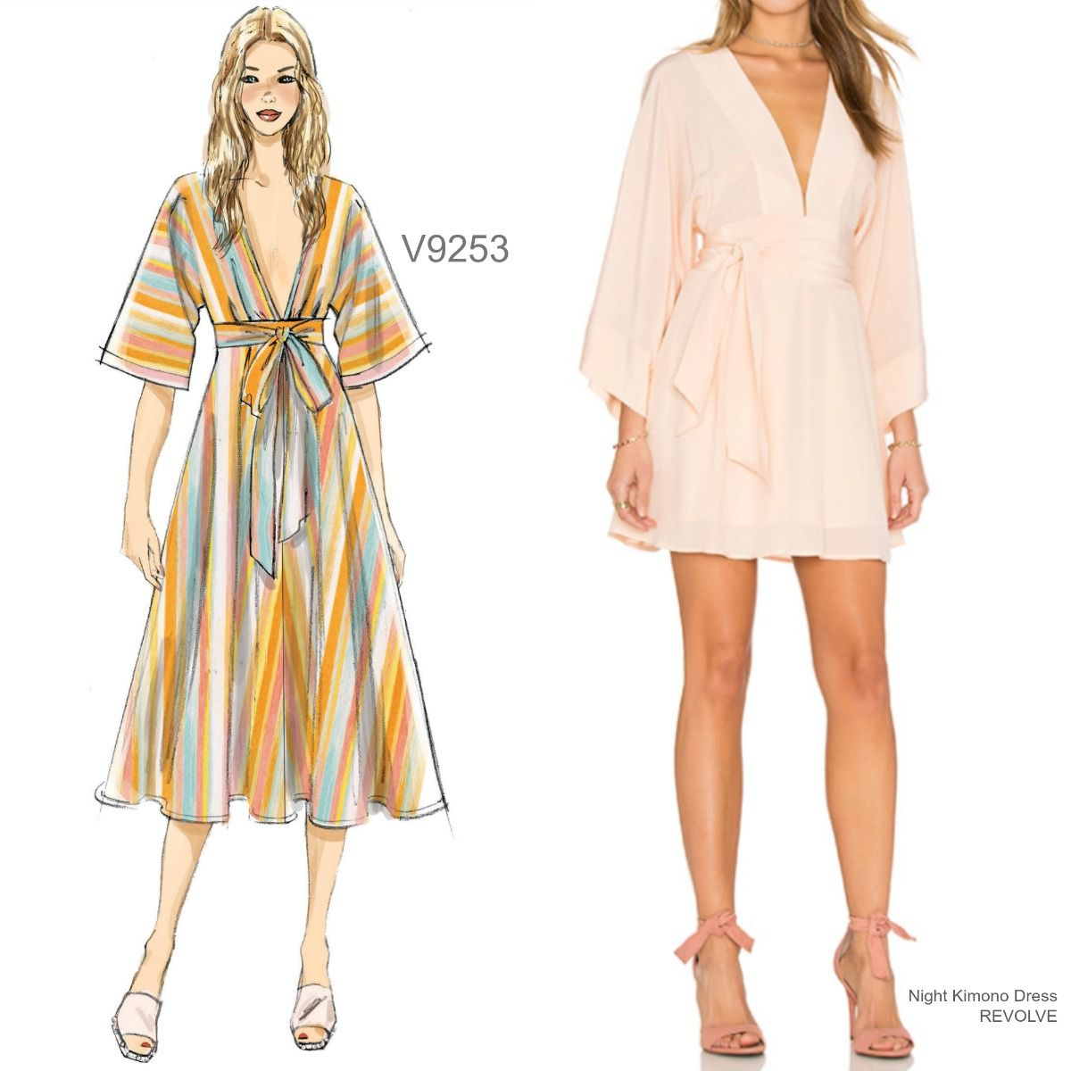 Sew the Look: Vogue Patterns V9253 kimono dress sewing pattern ...