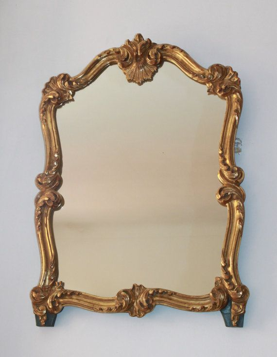 French Antique Mirror Old Golden