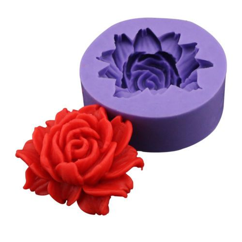 3D Rose Flower Decorating Fondant Cake Candy Clay Soap Baking Silicone Tool Mold | eBay
