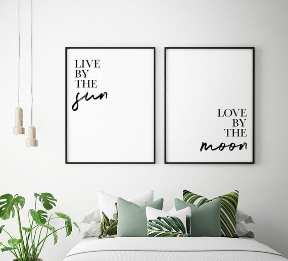 Live By The Sun, Love By The Moon Printable Art (Set of 2)   Sun And Moon Prints, Bedroom Decor, Bedroom Wall Art Instant Download is part of Big bedroom For Couples - babycostore                                                                      Live By The Sun, Love By The Moon Printable Posters   Inspirational Quotes Posters   Live By The Sun Print   Bedroom Print Sets   Sun and Moon Prints   Home Wall Art   Set of 2 Prints   Bedroom Decor Art Prints   Digital Download Wall Quote Sayings  Home Decor Signs A beautiful addition to your home decor or office wall decor  For the perfect look, complement this printable art with other matching wall prints, wall hangings or decor