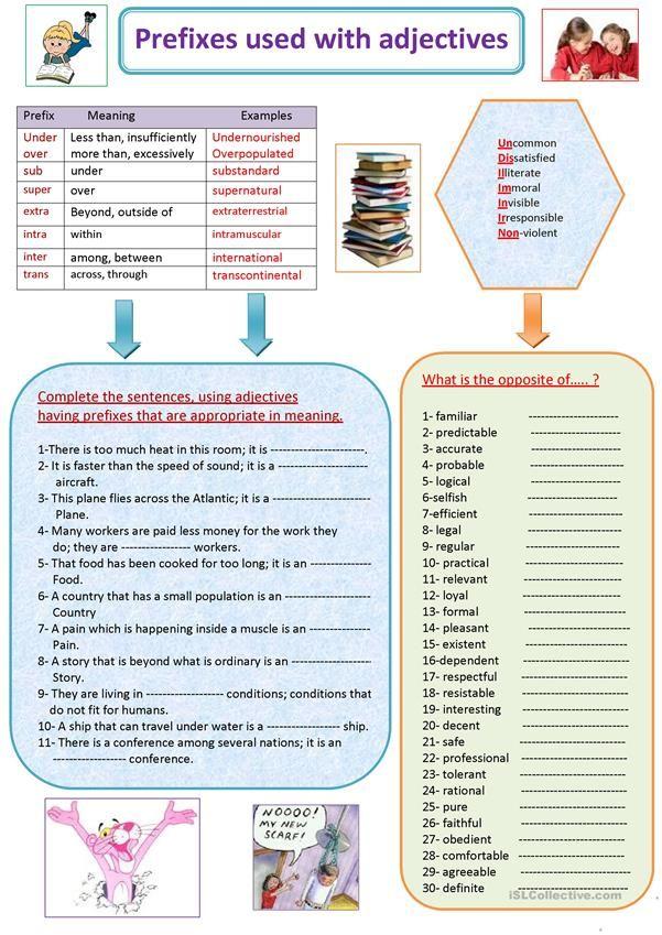 grammar guides exercises key included prefixes e g a un im dis mis en etc grammar. Black Bedroom Furniture Sets. Home Design Ideas