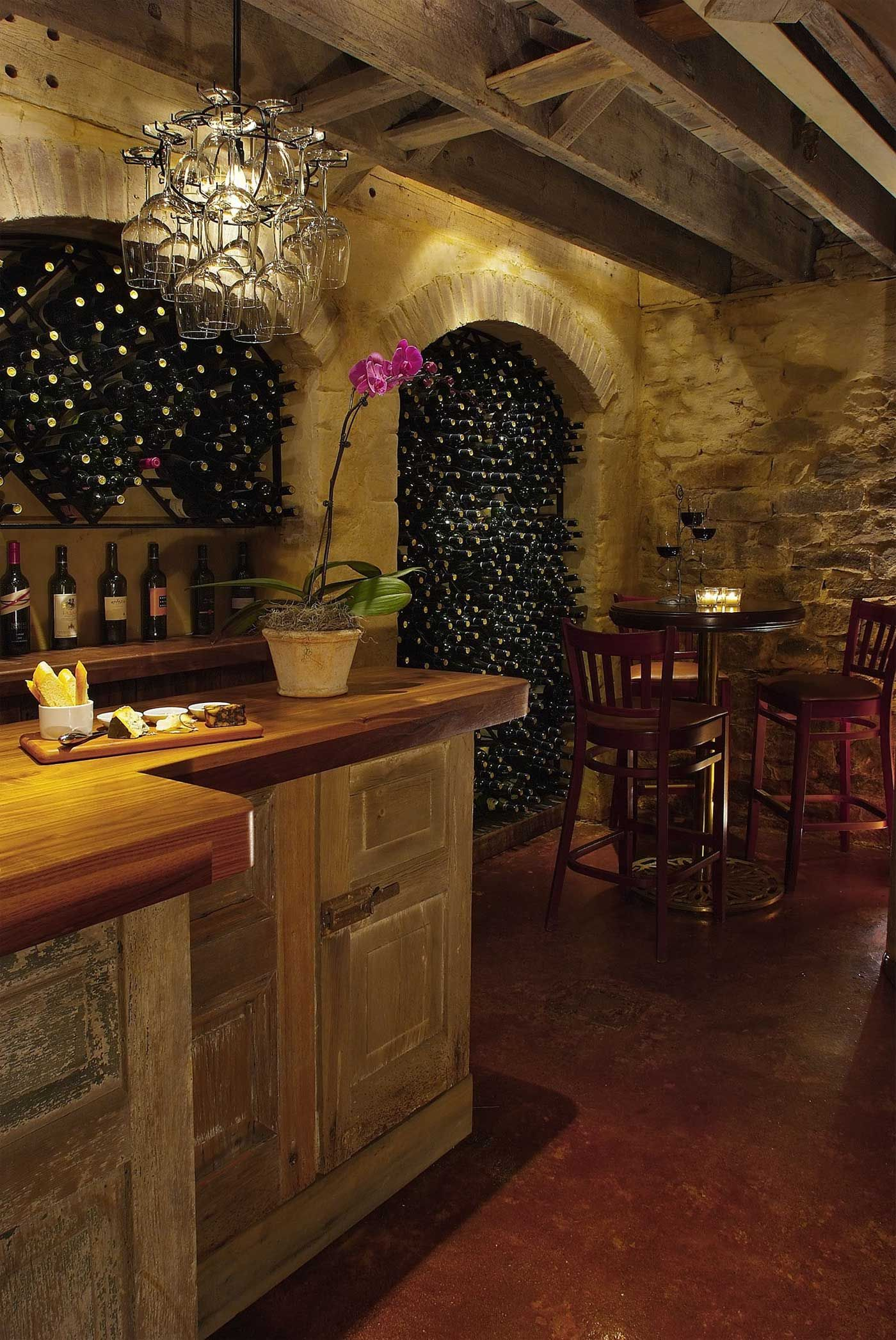 Rustic Wine Bar Located In The Wine Cellar Home Wine Cellars