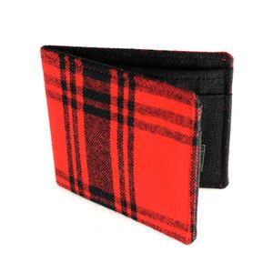 Lumberjack Wallet Red/Bk Plaid now featured on Fab.