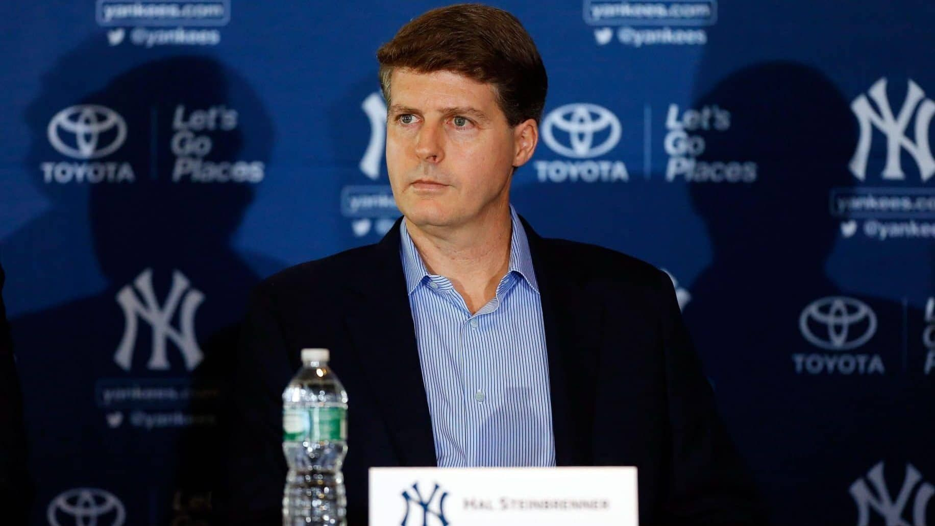 Hal Steinbrenner Talks About The State Of The New York Yankees And Says He S Embracing The Evil Empire Nickname People A New York Yankees Yankees Fan Yankees