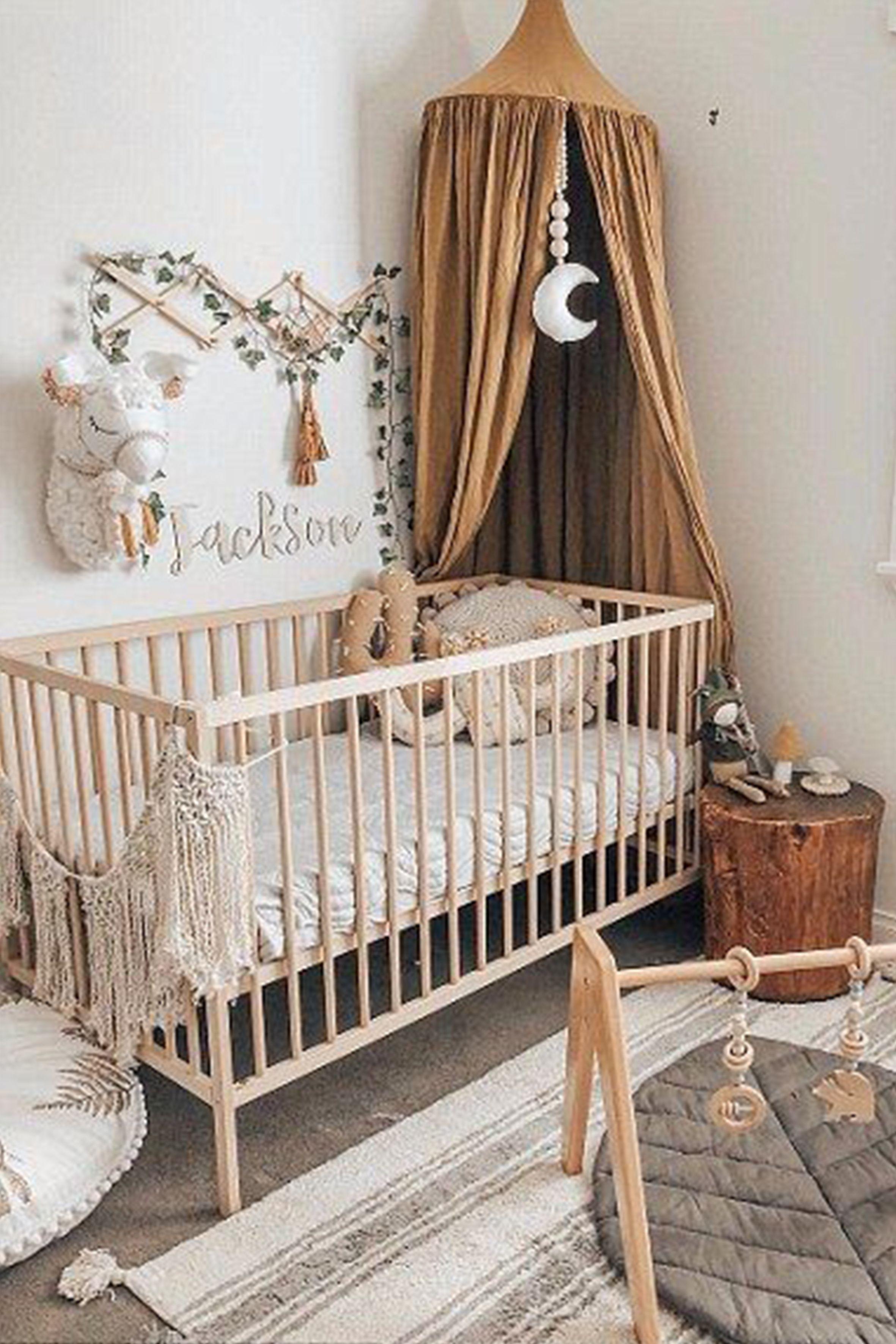 Décoration pour une chambre de bébé style jungle chic. #déco
