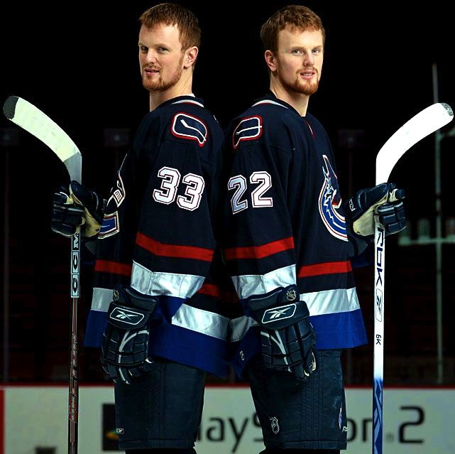 Sedin Brothers Daniel And Henrik Canucks Stars Hockey Vancouver Canucks