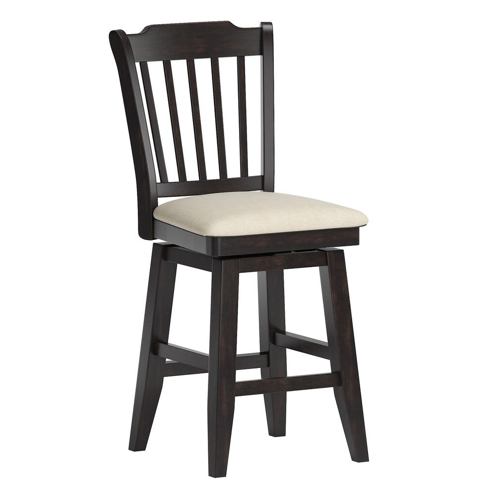 Astonishing Homesullivan 24 In H Antique Black Spindle Back Swivel Evergreenethics Interior Chair Design Evergreenethicsorg