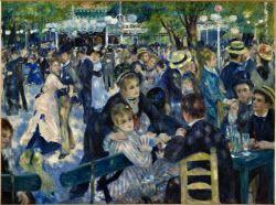 「ムーラン・ド・ラ・ギャレットの舞踏場」(1876年、油彩、カンバス、131×175センチ、オルセー美術館蔵)(C) Musee d'Orsay, Dist. RMN-Grand Palais / Patrice Schmidt / distributed by AMF