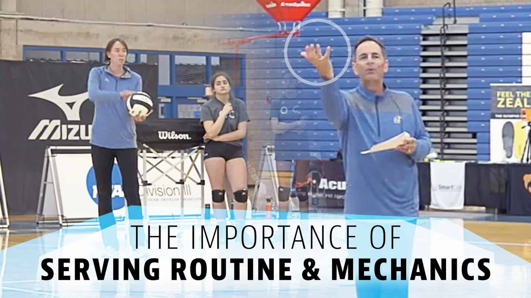 The Importance Of Serving Routine And Mechanics The Art Of Coaching Volleyball Coaching Volleyball Volleyball Practice Routine