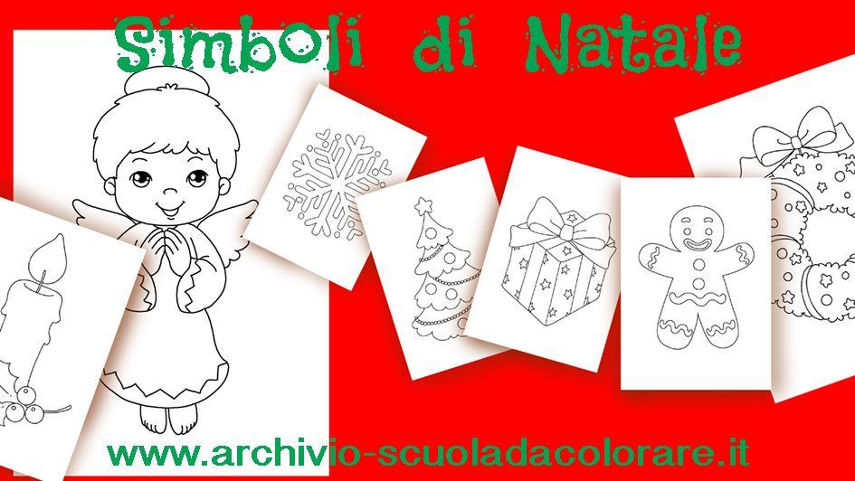 I Simboli Del Natale.Disegni Da Colorare Di Natale Nuovi Disegni Sui Simboli