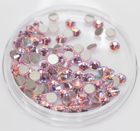 8bf6ec5589 Swarovski crystals LIGHT ROSE AB flat back gems stones rhinestones ...