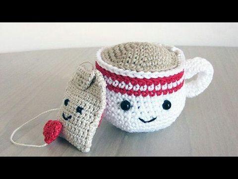 Taza de té amigurumi tejida a crochet (tea cup amigurumi) - YouTube ...