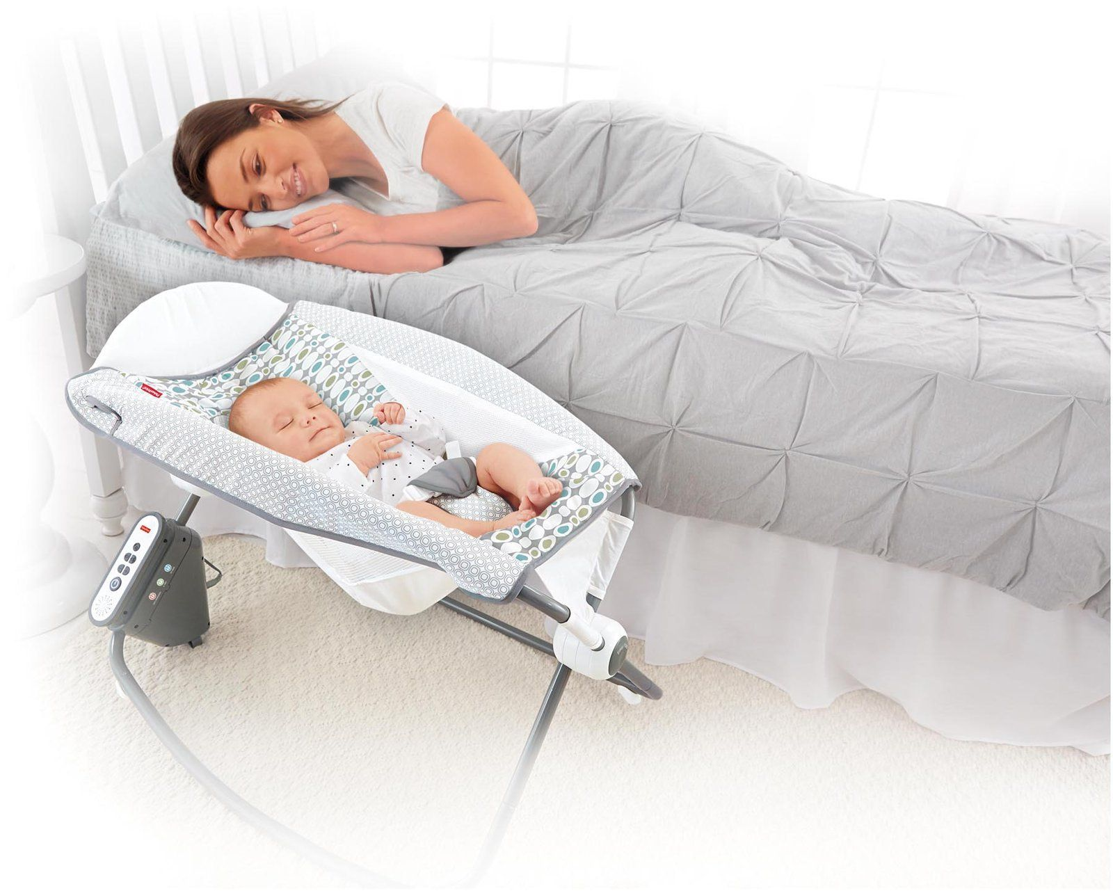 The new Fisher Price Rock n Play Newborn Sleeper has a motor for