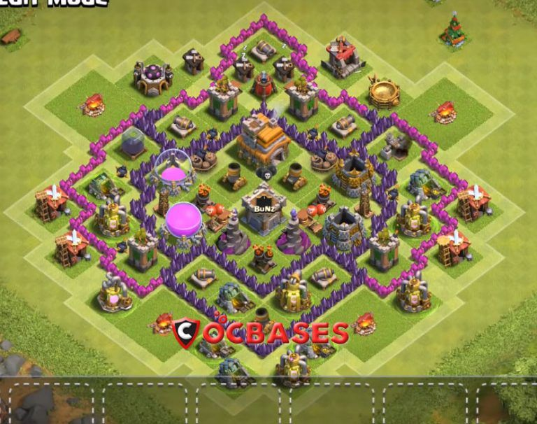 8 Best Th7 Defense Base 2020 New Clash Of Clans New Clash Of Clans Clan