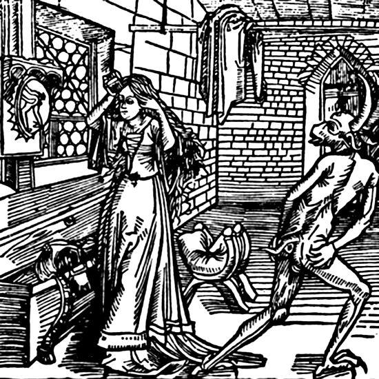 las visitaciones del diablo. se creia en la edad madia, que cuando ...