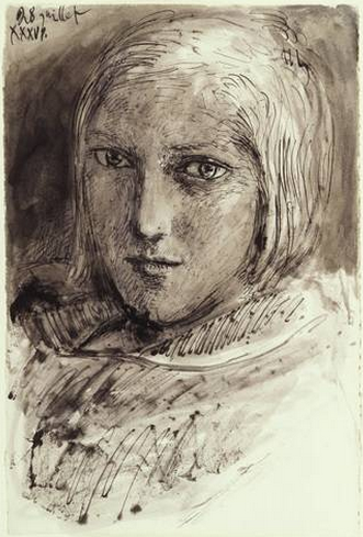 Pablo Picasso (1881-1973), Portrait of Marie-Thérèse Walter, Pen and black ink and gray wash, Thaw Collection.