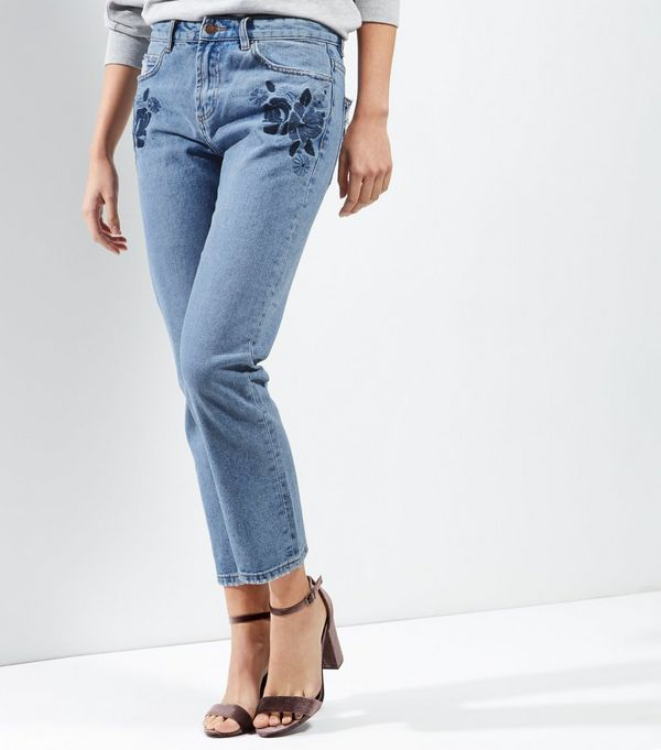 Online Cheap Quality Womens Floral Straight Jeans New Look Cheap Sale Browse With Credit Card Sale Online Outlet Shop For KOG7U