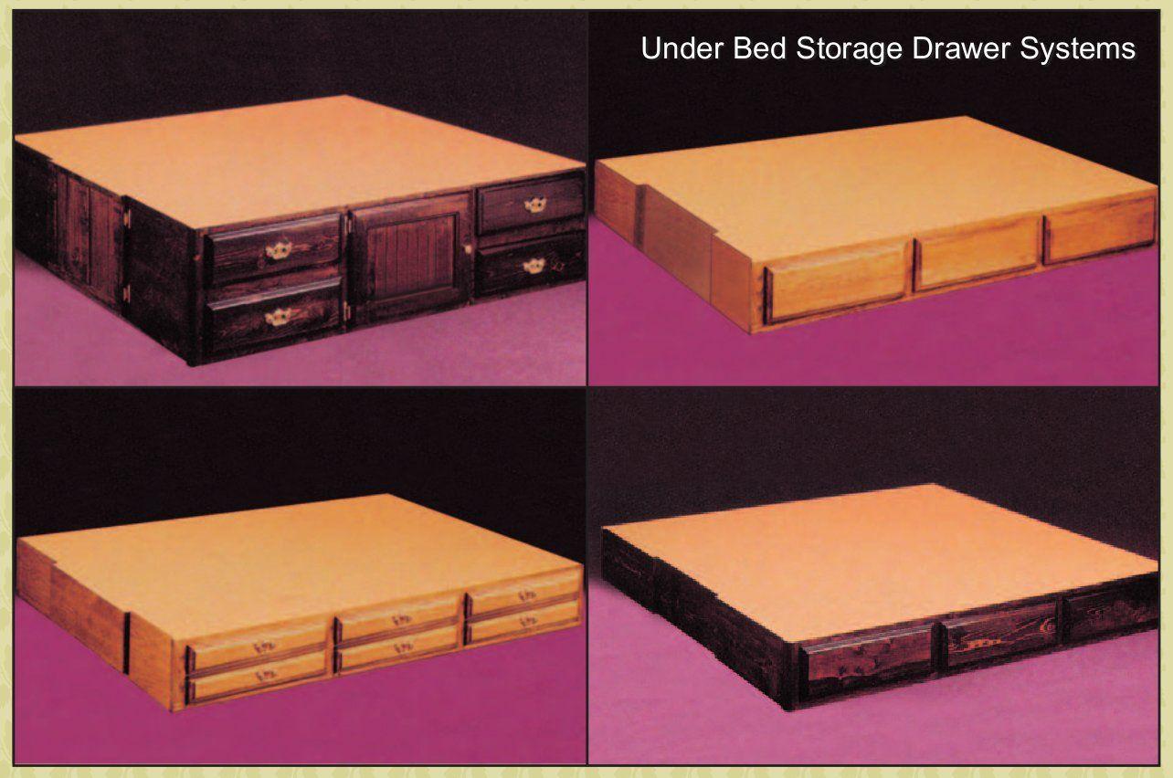 http://waterbedstoday/pedestals.html #waterbed #drawer
