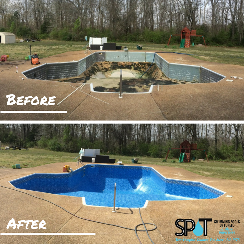 Beforeandafter Swimmingpoolsoftupelo Service Team Gave This Pool New Life Get Your Pool Opening Service Scheduled Before Ti Pool Swimming Pools Buy A Pool