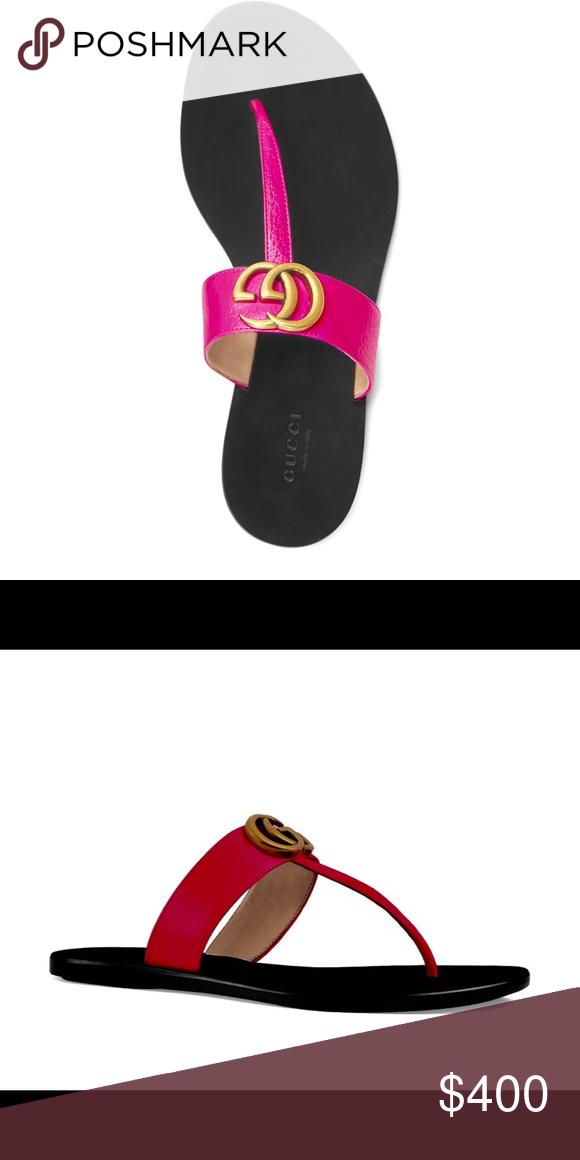 gucci neon pink sandals