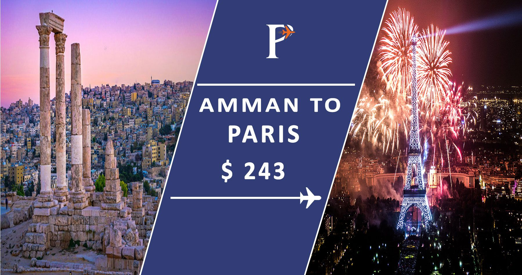 Flights from Amman, Jordan (AMM) to Paris, France