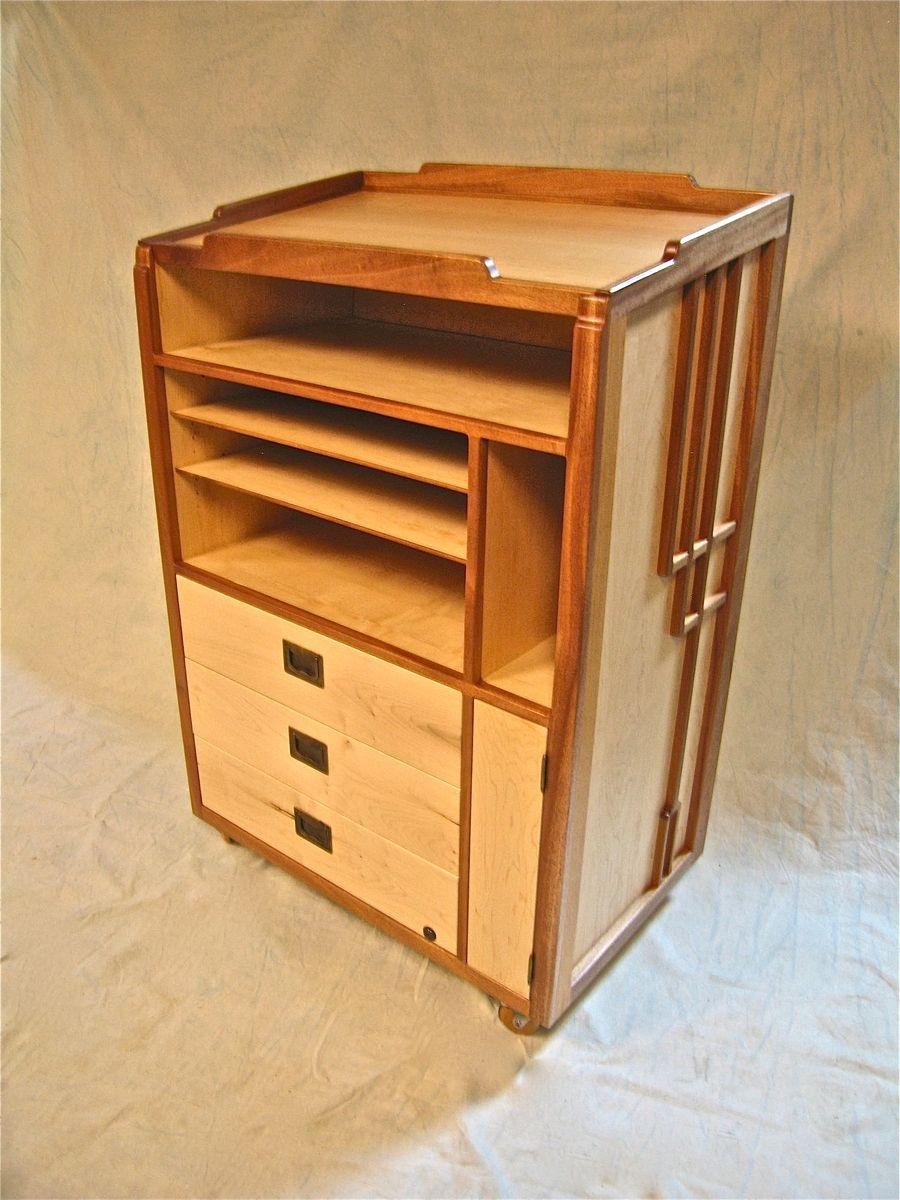 Frution restaurant host stand or podium mobile office