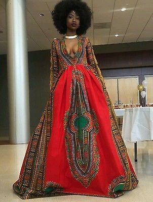 Red Dashiki Dresses