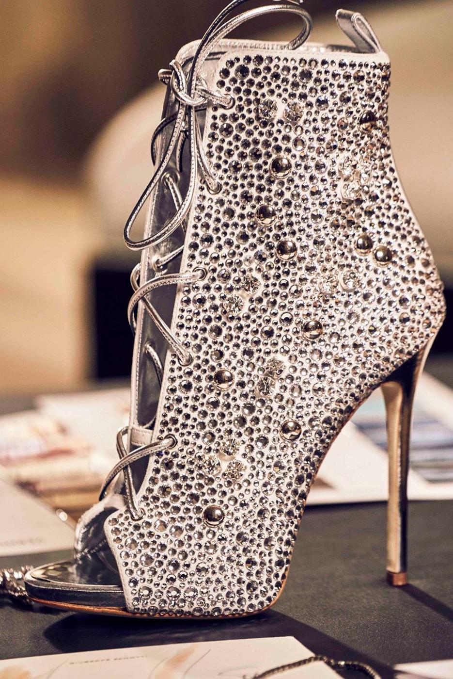 Giuseppe Zanotti For Jennifer Lopez High Heel Gladiator Sandals Peep Toe Ankle Boots Womens Boots Ankle