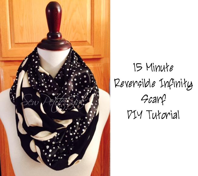 15-Minute Reversible Infinity Scarf DIY Tutorial (SewPetiteGal ...